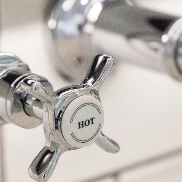 Hot bath tap